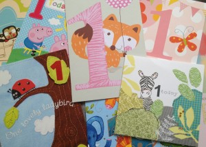 First birthday cards